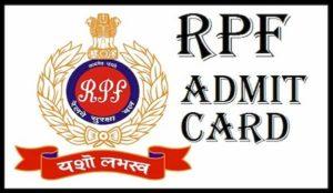 RPF Admit Card 2020
