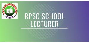 rpsc school lecturer