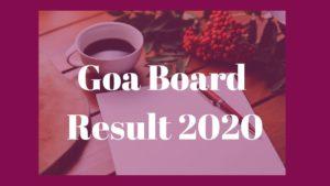 goa board result