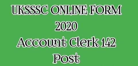 UKSSSC Account Clerk Recruitment 2020
