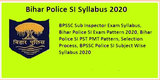 Bihar Police SI Syllabus