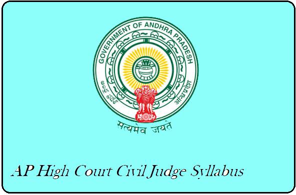 AP High Court Civil Judge Syllabus 2020