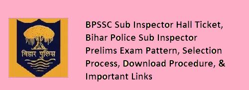 Bihar Police SI Admit Card