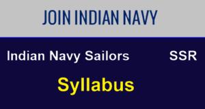 Navy SSR Syllabus 2020
