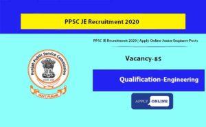 Punjab JE Recruitment 2020