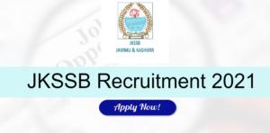JKSSB Junior Assistant Recruitment 2021