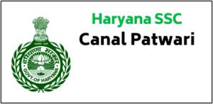 HSSC Canal Patwari