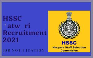HSSC Patwari Recruitment 2021